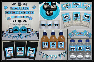 Image Is Loading LITTLE MAN MOUSTACHE 1st Birthday BOY Baby Shower