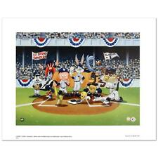 """Looney Tunes """"Line Up At The Plate (Yankees)"""" Collectible Lithograph with COA"""