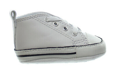 Converse First All Star Hi Chuck Taylor Leather Kids Infant Shoes White 81229 | eBay