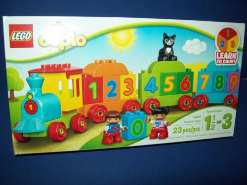 LEGO DUPLO 10847 NUMBER TRAIN  23 pcs age 1 1//2-3 Learn to Count