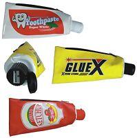 Schlampermäppchen Mäppchen Mit Spitzer Zahnpasta Klebstoff Ketchup Tube Motive