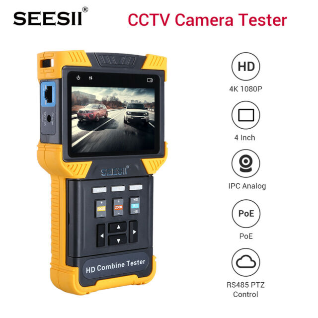 "1080P IP CCTV Monitor Camera Tester Security Combine SD HD Test 4"" TDR ONVIF"