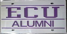 east carolina pirates ecu slv alumni deluxe laser license plate tag university - Ecu Diploma Frame