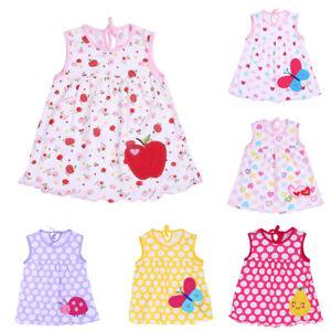 Newborn-Baby-Floral-Cotton-Blend-Vest-Dress-Girls-Sleeveless-T-Shirt-Top-Clothes