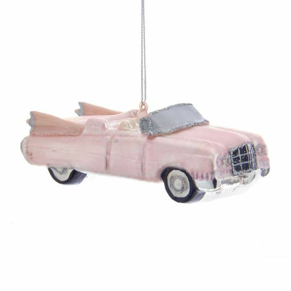 "ADLER 5/"" PINK VINTAGE STYLE RETRO TOASTER GLASS CHRISTMAS ORNAMENT KURT S"