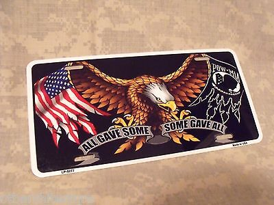 POW MIA All Gave Some Some Gave All Novelty Vanity License Plate Tag Sign