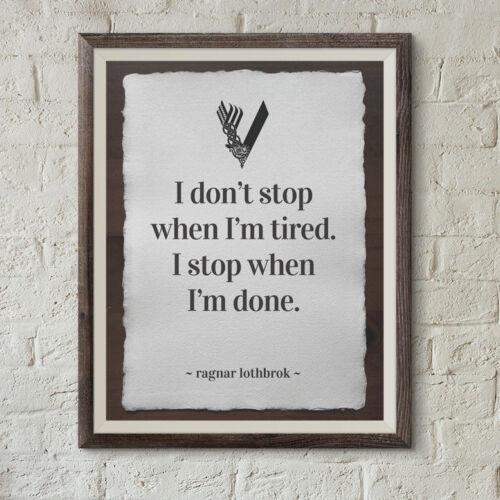 Ragnar Lothbrok print Vikings season 5 poster ragnarok A4 cotton paper quote