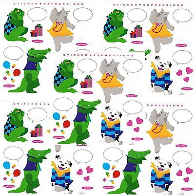 Mrs Grossman/'s Expression Quote Alligator Hippo Frog Scrapbook Stickers 5 Sheets