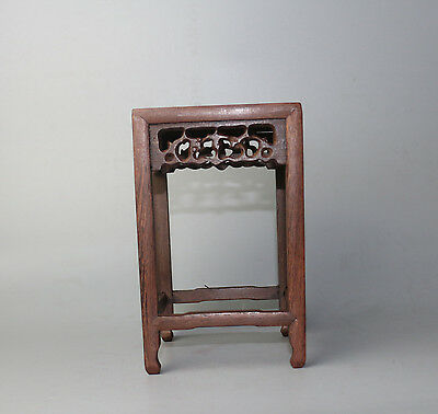"Qualified Display Shelf Stand China Brown Jichi Hard Wood Carved Square Wooden Base 8.4"" Low Price Ornaments Collectibles"