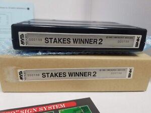 STAKES WINNER 2 NEO GEO MVS CART 100% ORIGINAL SNK NOS NEW with box #000198 rare