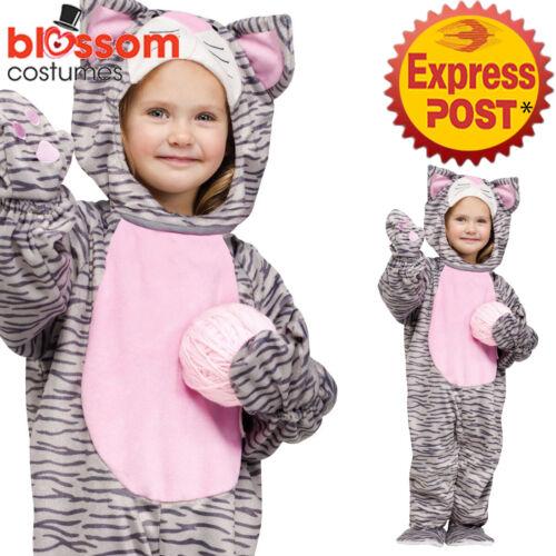 CK1108 Grey Striped Kitten Kitty Cat Animal Child Toddler Jumpsuit Kids Costume