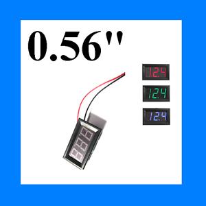 """BIG 0.56"""" LED Digital Tube Wire Digital DC 4.50-30.0V 3 Voltmeter Voltage Meter"""