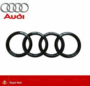 AUDI-Negro-Brillante-insignia-de-Arranque-Trasero-Espalda-Anillos-A1-A3-A4-A5-A6-RS3-RS4-S3-S4-193mm