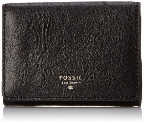 Fossil Original SL6686001 Black Sydney Gusseted Key Case Leather Women/'s Wallet