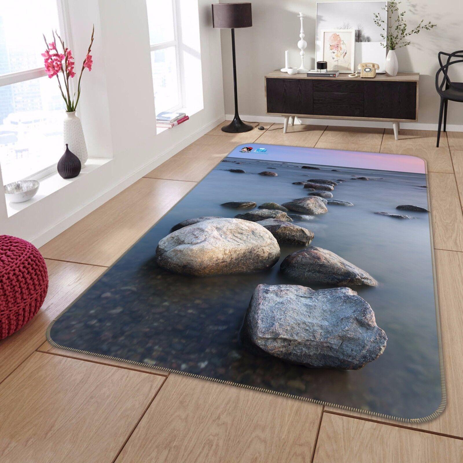 3D Stones Seaside 844 Non Slip Rug Mat Room Mat Round Elegant Photo Carpet CA