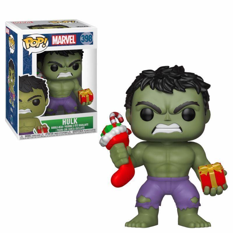 Marvel Hulk Figura con Calcetín de Navidad 9.5cm Pop Vinyl Figura Hulk Funko 398 d67ec5