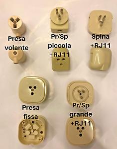 Schema Collegamento Presa Telefonica Rj11 : Presa o spina telefonica rj11 telefono fisso plug 6 4 c linea