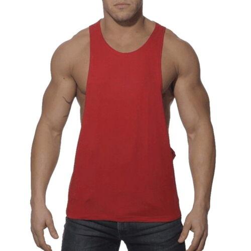 Herren Gym Singlet Tank Tops Stringer Bodybuilding Muskel Vest Weste Unterhemd