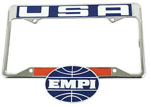 Vintage Style Empi License Plate Frame Vw Bug Vw Beetle Vw