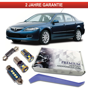 Mazda 6 GG GY GG1 LED Innenraumbeleuchtung Premium Set 10 SMD Weiß Check Canbus