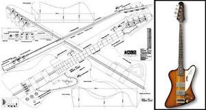 gibson thunderbird bass plan ebay rh ebay com gibson thunderbird bass wiring diagram Gibson Guitar Wiring Diagrams