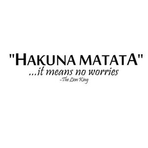 Details about Removable Words Quote Hakuna Matata PVC Wall Sticker Lion  King Bedroom Decor