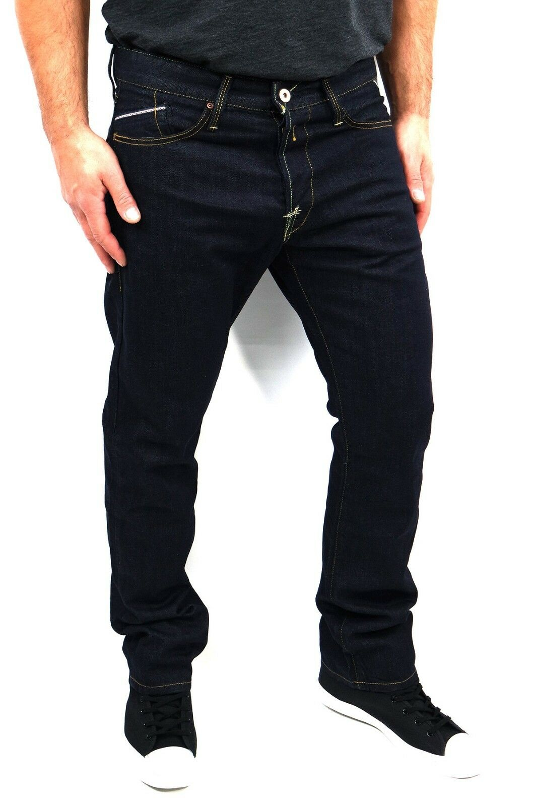 Replay Men Jeans Waitom W34 L32 M983 Dark Blau W11807007 Regular Slim Fit +New+