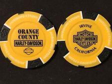 "/""Corpus Christi/"" Texas Harley Davidson Ball Marker Poker Chip Orange /& Black"