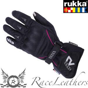 RUKKA-Suki-Nero-Rosa-Donna-Gore-Tex-Guanti-da-moto-impemeabili-xtrafit