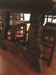 Image Is Loading Antique Mahogany Dining Table And Chairs