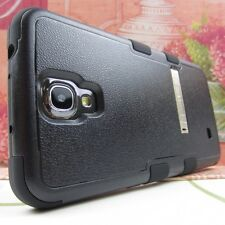 Black BLK Tuff Impact Hard Rubber Hybrid Cover Case for Samsung Galaxy Mega 6.3