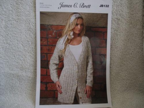 James c brett-Mesdames cardigan aran knitting pattern-jb132