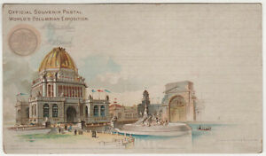 1893-CHICAGO-World-039-s-Fair-PC-Postcard-Columbian-Exposition-EXPO-Goldsmith-ADMIN