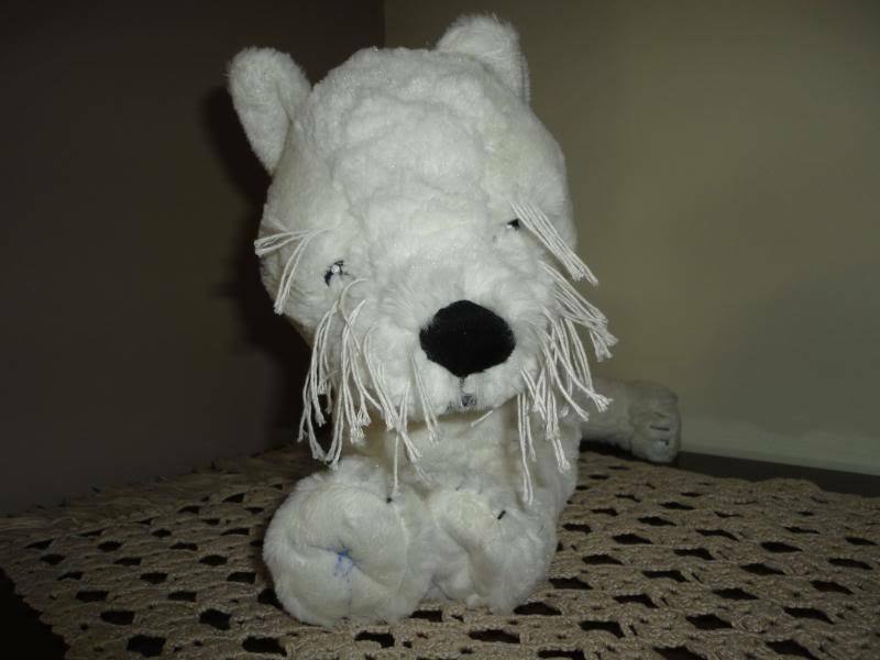 IKEA Sweden Gosig White TERRIER TERRIER TERRIER DOG String Whiskers & Eyebrows d8ee7a