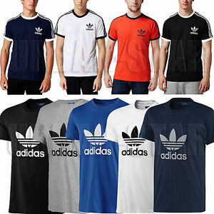 New-Mens-Adidas-Originals-Crew-Neck-Trefoil-Cotton-Tee-T-Shirt-Top-Size-S-M-L-XL