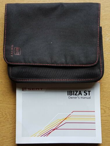GENUINE SEAT IBIZA ST HANDBOOK OWNERS MANUAL WALLET 2010-2012 PACK D-375