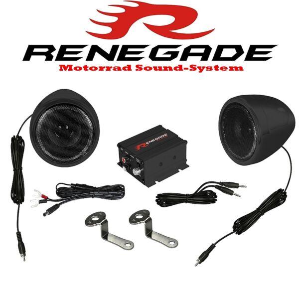 Deftig Renegade Rxa100b Motorrad Trike Quad Roller Sound System Black Edition 100w Nieuwste Technologie