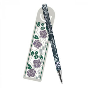 Mackintosh Pink Roses Ballpoint Pen And Bookmark Set In Presentation Box Soaenbvv-07222120-669101184
