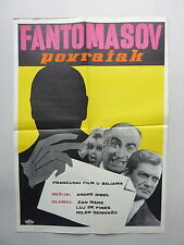 FANTOMAS SE DECHAINE (1965/FRANCE) ORIGINAL YUGOSLAVIAN MOVIE POSTER
