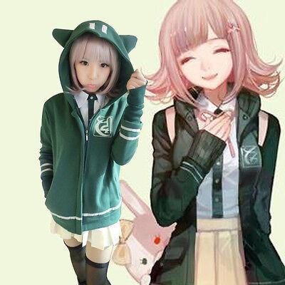Chiaki Nanami Anime Cosplay Costumes Coat Green Sweet Hoodie Jacket M L XL