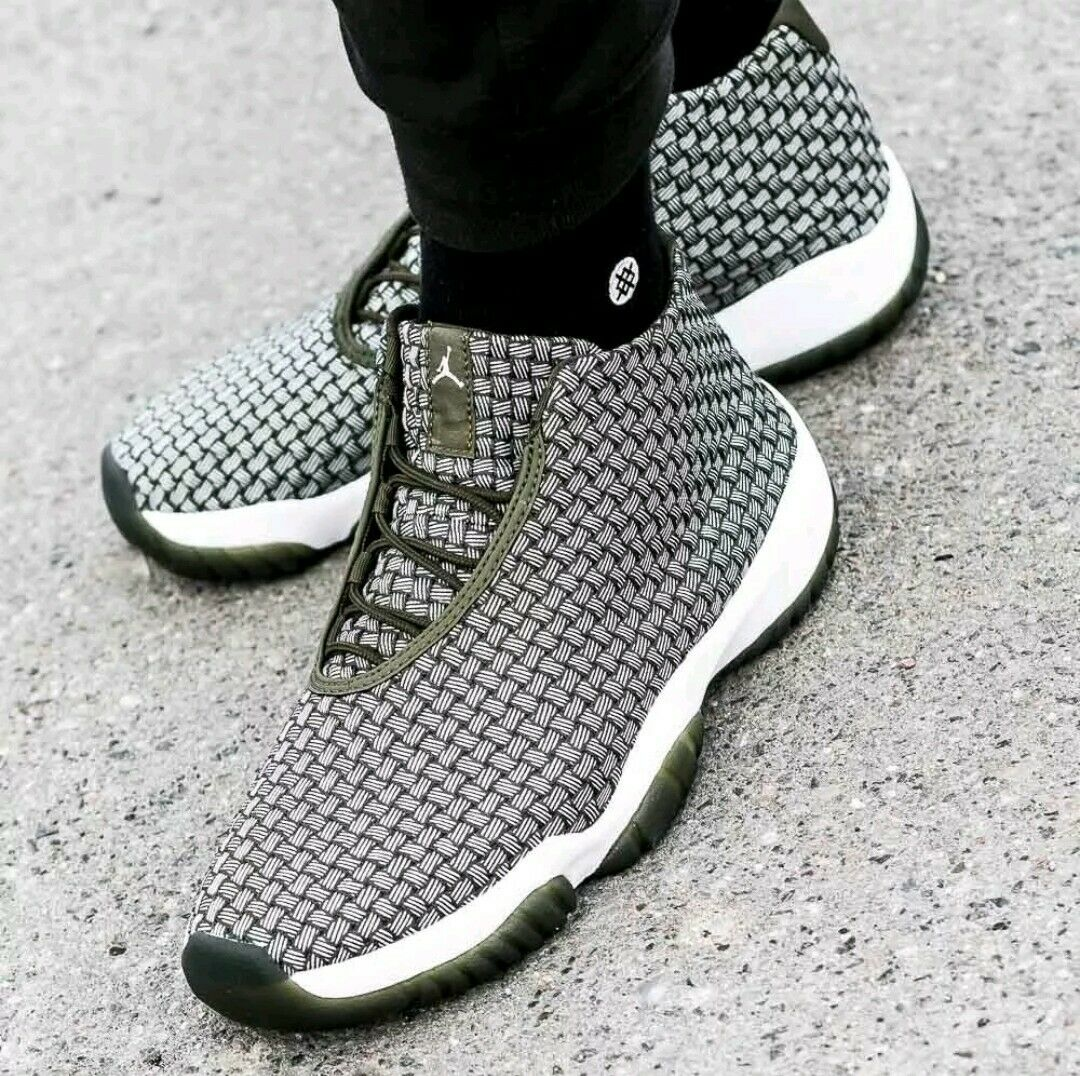 Nike Jordan Future Olive Canvas White Metallic Silver