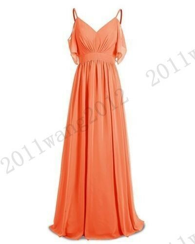 Long Chiffon Formal Evening Party Ball Gown Prom Bridesmaid Dresses Size 6-28