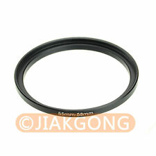 55mm-58mm 55-58 mm Step Up Filter Ring Stepping Adapter