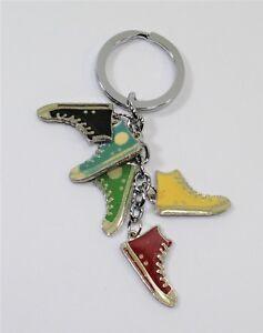 Llavero-5-Colgantes-Esmaltados-Multicolor-Calzado-Deportivo-Hombre-Mujer