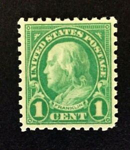 US-Stamp-Scott-581-1c-1923-XF-M-NH-Rich-color-Beautifully-centered