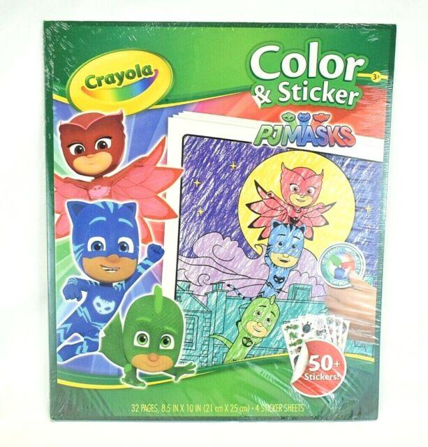 Crayola PJ Masks Color And Sticker Book Model 24382256 For Sale Online  EBay