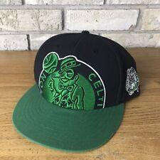 NBA Basketball Cap Unisex 47 Brand Boston Celtics Clean Up Adjustable Hat Adult Black//Green//White