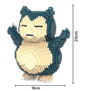 1820 PCS/sets Pokemon Snorlax Nano block DIY Building block Toys gifs