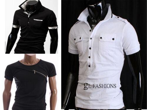 New Mens Short Sleeve Polo Top Shirt//T-Shirt 100/% Cotton UK size S//M//L//XL//XXL
