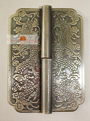 """Furniture Brass Hardware Cabinet Face Plate Copper w// Locking Pin Handle 6.9/"""""""